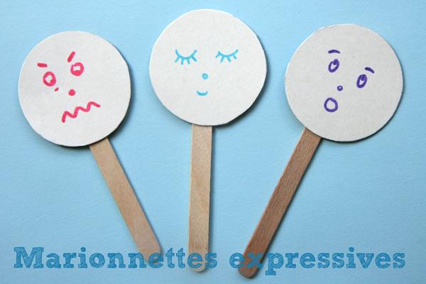 marionnettes expressives pour apprendre les motions cabane id es. Black Bedroom Furniture Sets. Home Design Ideas