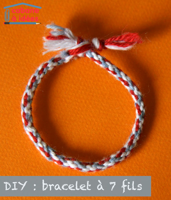 diy tricoter un bracelet 7 fils cabane id es. Black Bedroom Furniture Sets. Home Design Ideas