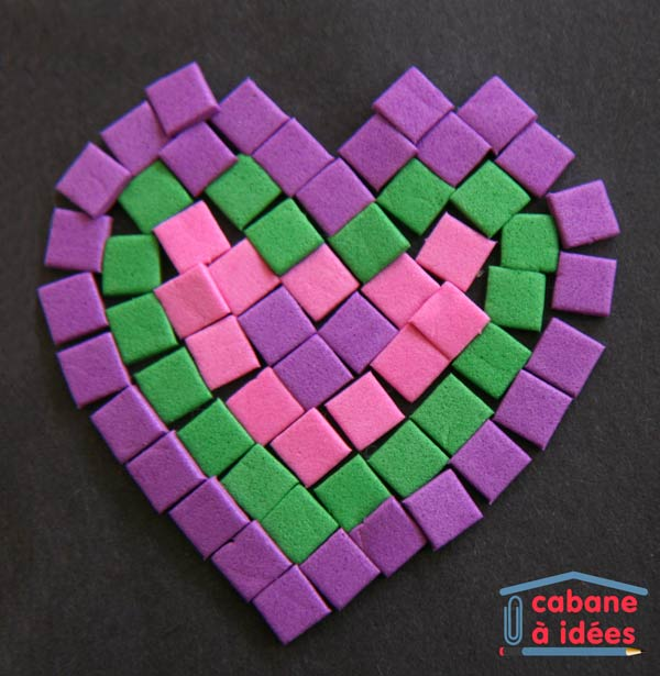 Mosaique Mousse Coeur