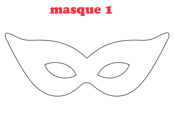 Masque Blanc A Decorer