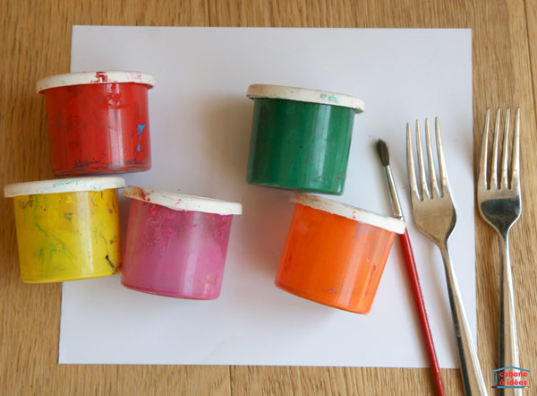 peinture-tulipes-fourchette-materiel
