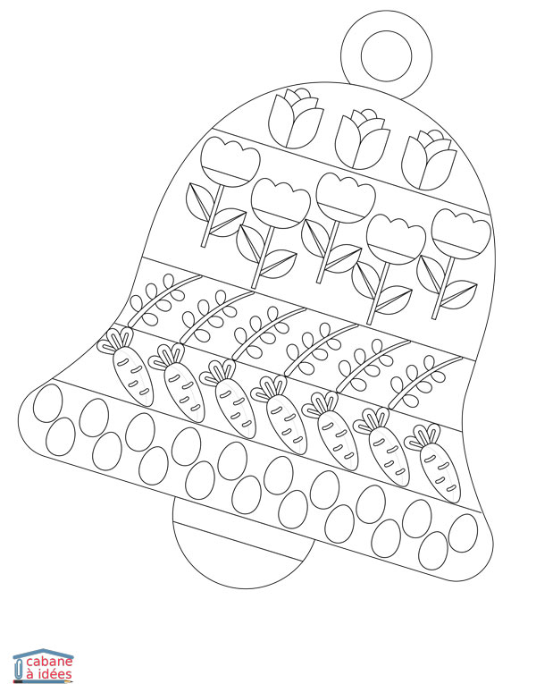 Coloriage Paques Cloche Cabane A Idees