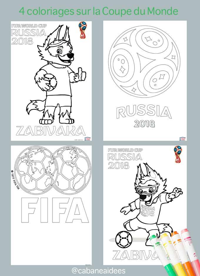 Coloriages De La Coupe De Foot 2018 Cabane à Idées